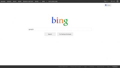 披上谷歌外衣的Bing