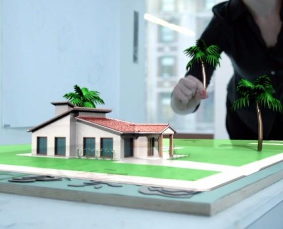 Meta眼镜效果--在虚拟世界里用手创造模型,随意安排树的位置