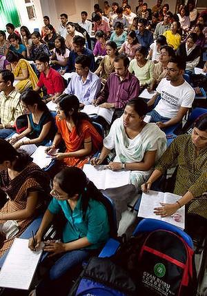 印度理工学院学生在上课中