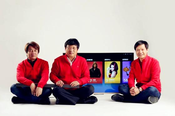 王川、陈彤和雷军(从左至右)