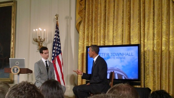 Jack Dorsey interviewing Barack Obama
