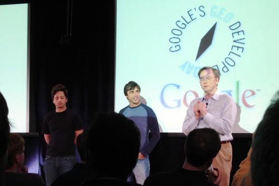 Larry Page, Sergey Brin, Eric Schmidt
