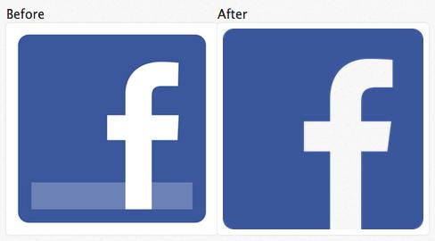 Facebook Logo Flattening   品味:正在变平的世界