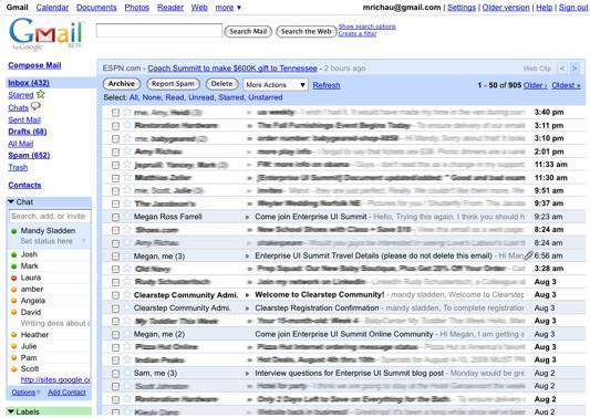 Old Gmail  品味:正在变平的世界