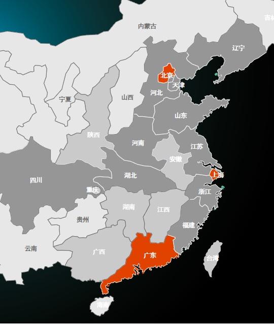 中国3c电子商务市场地图