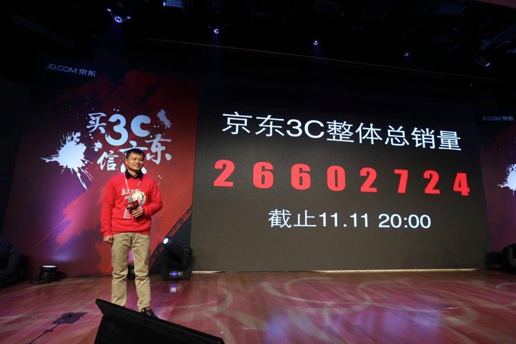京东3C产品双十一总销量