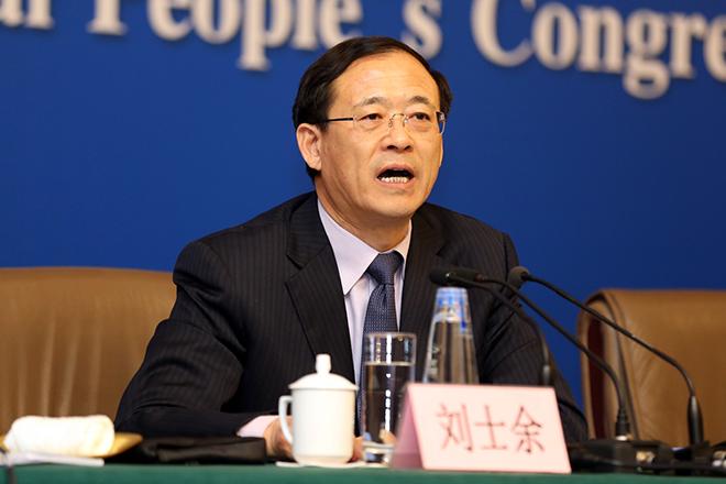 新任证监会主席刘士余。