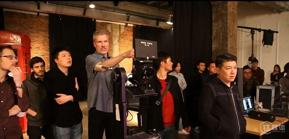 霍建华担当主角的VR影片拍摄现场