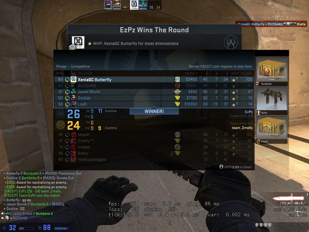 CS: GO 中的游戏击杀显示