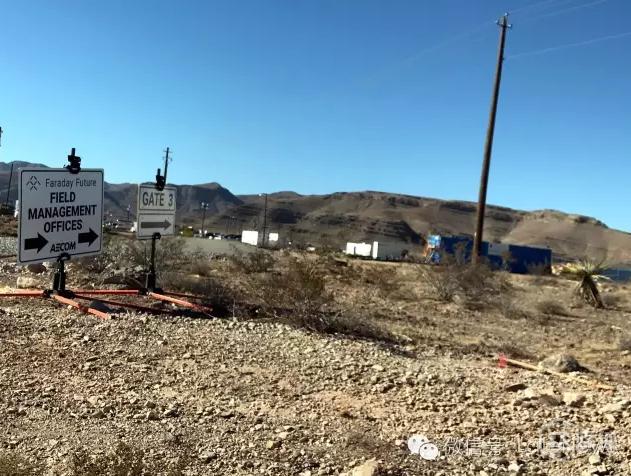 乐视拉斯维加斯超级汽车工厂的施工现场