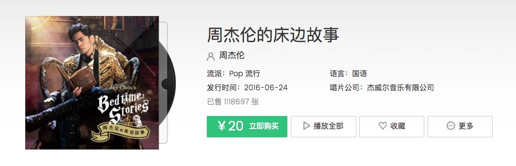 周杰伦的最新专辑在 QQ 音乐上取得了巨大的成功