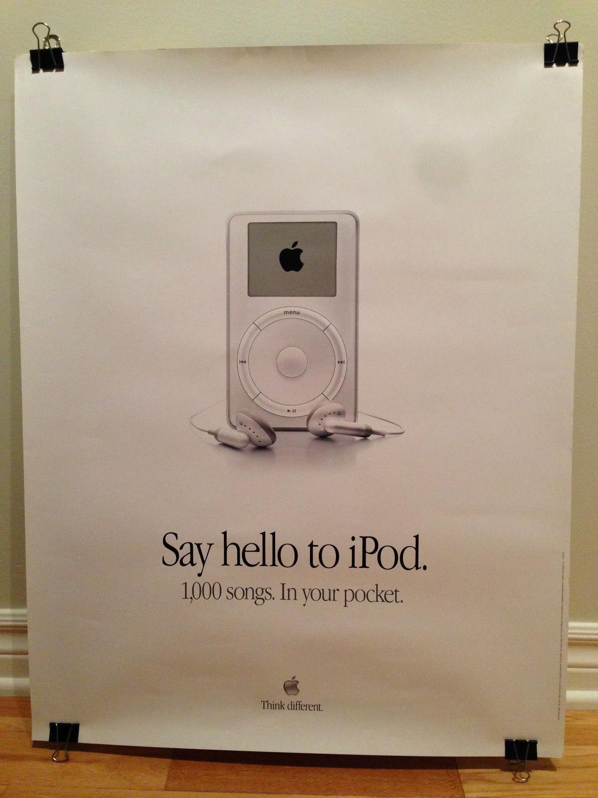 ipod 最初的宣传海报 来源:blogspot