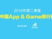 2016年第二季度中国App&Game排行榜
